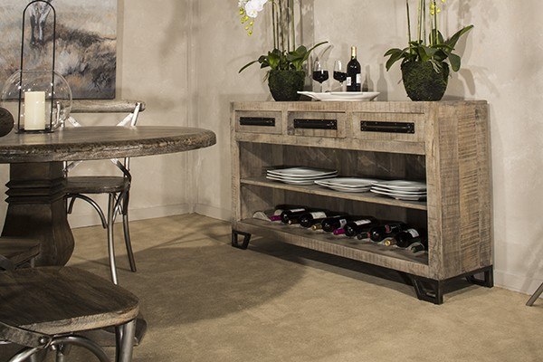 Bridgewater Console Table With Removable Wine Rack