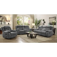 HIGGINS MOTION COLLECTION - Houston Casual Stone Motion Loveseat