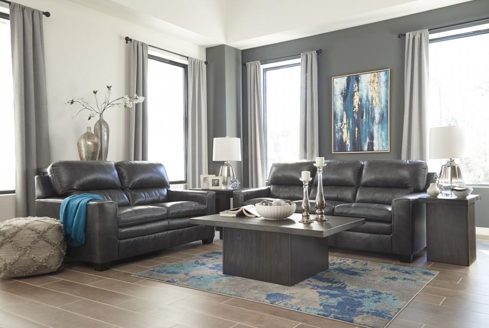Gleason - Charcoal - Sofa & Loveseat
