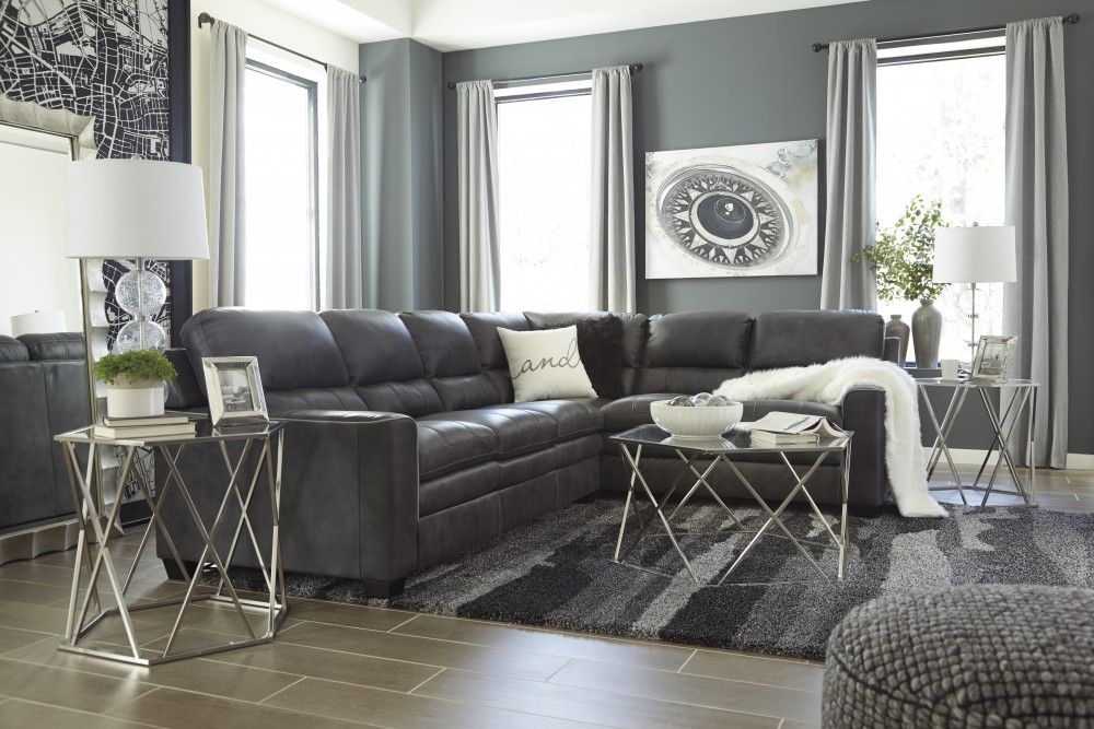Gleason - Charcoal 2 Pc. Sectional
