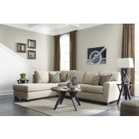 Calicho - Ecru 2 Pc. RAF Sofa Sectional