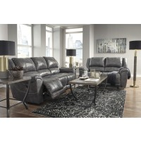 Persiphone - Charcoal - Reclining Sofa & Loveseat