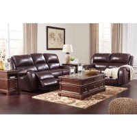 Gilmanton - Burgundy - Reclining Power Sofa & Loveseat