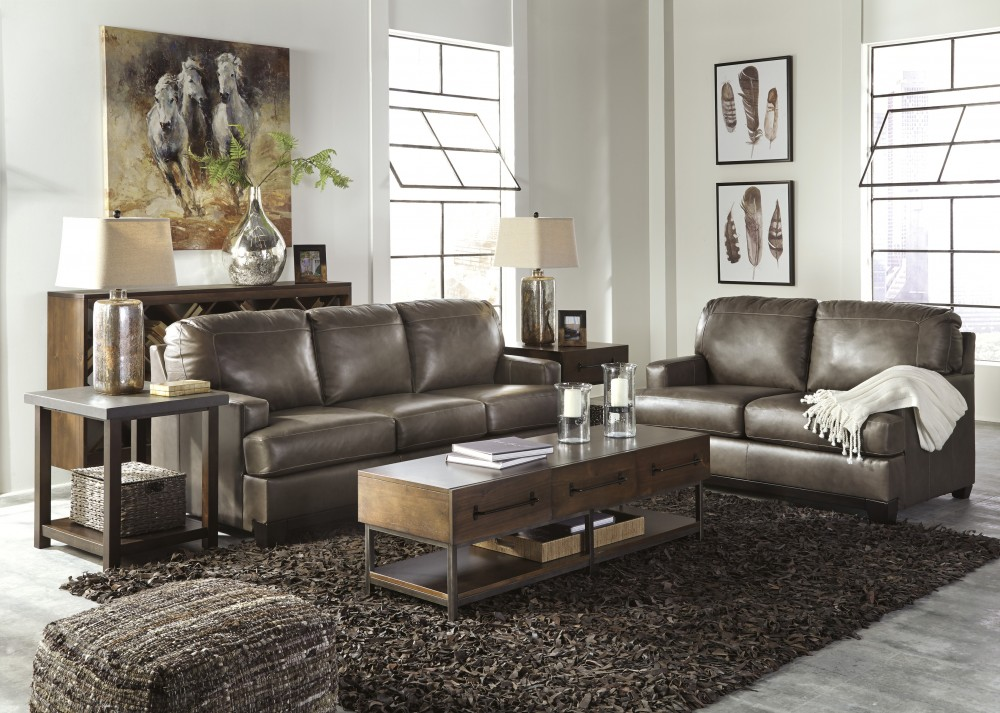 Derwood - Pewter - Sofa & Loveseat