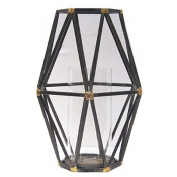 Devo - Black/Gold Finish - Candle Holder
