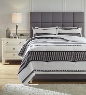 Masako Blackwhite Queen Comforter Set Q293003q Bedding