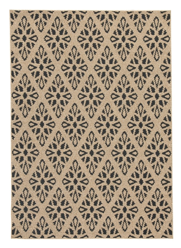 Jerrod - Black/Tan - Large Rug
