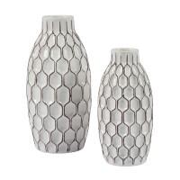Dionna - White - Vase Set (2/CN)