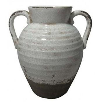 Dion - Distressed White - Vase