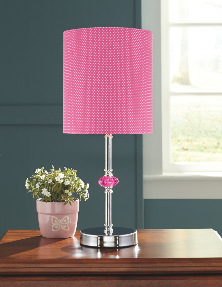 Sommerville - Pink/Silver Finish - Metal Table Lamp (1/CN) | L857684 ...