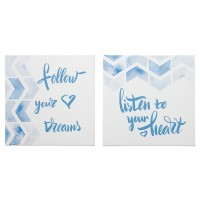 Ellis - Teal/White - Wall Art Set (2/CN)