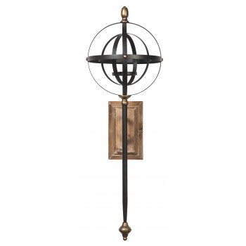 Dina Blackgold Finish Wall Sconce Sconces Texas Discount