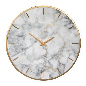 Jazmin - Gray/Gold Finish - Wall Clock