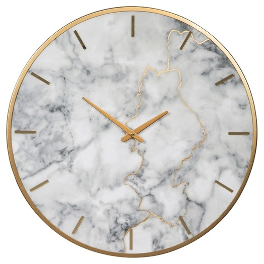 Jazmin - Gray/Gold Finish - Wall Clock
