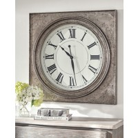 Pelham - Antique Silver Finish - Wall Clock