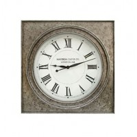 Pelham - Antique Silver Finish - Wall Clock