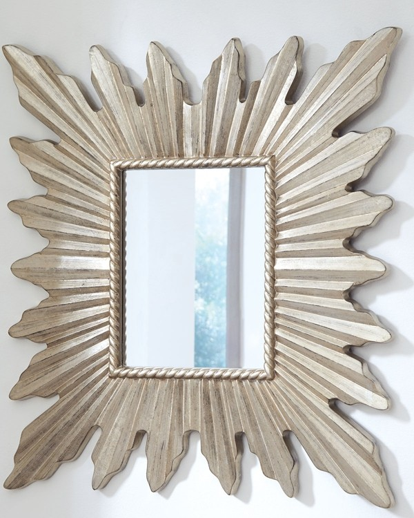 antonia antique silver finish accent mirror a8010133 mirrors