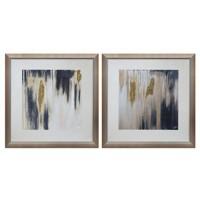 Constanza - Blue/Cream/Gold Finish - Wall Art Set (2/CN)
