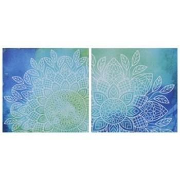Andrian - Blue/Green - Wall Art Set (2/CN)