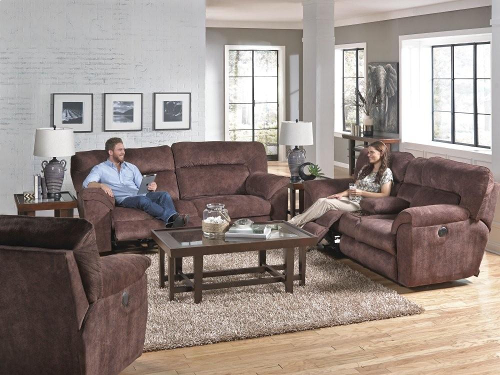 Lay Flat Reclining Sofa   Chestnut