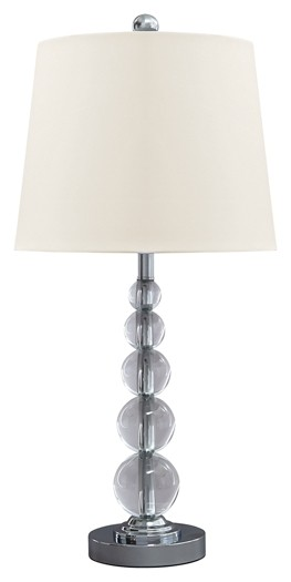 Joaquin - Clear/Silver Finish - Crystal Table Lamp (2/CN)