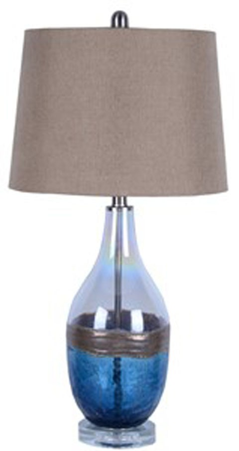 Johanna Blue Clear Glass Table Lamp 2 Cn L430514 Lamps
