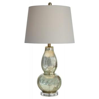 Laraine Gold Finish Glass Table Lamp 2 Cn L430554 Lamps