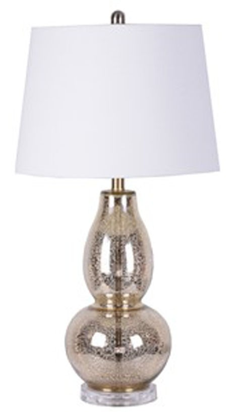 Laraine   Gold Finish   Glass Table Lamp (2/CN)