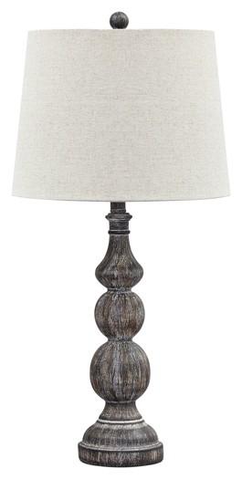Mair - Antique Black - Poly Table Lamp (2/CN)