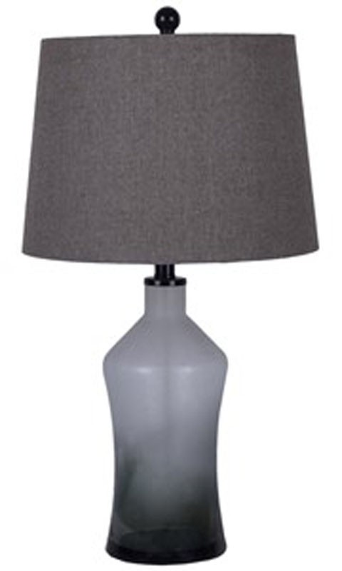 Nollie   Gray   Glass Table Lamp (2/CN)