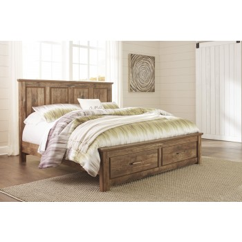 Blaneville King Panel Bed with Storage