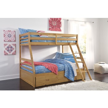 Hallytown Twin/Full Bunk Bed with Ladder & Storage