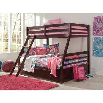 Halanton Twin/Full Bunk Bed with Ladder & Storage