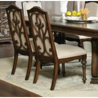 Ilana Traditional Antique Java Dining Chair (Pack of 2)