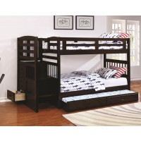 DUBLIN COLLECTION - Dublin Traditional Cappuccino Twin-over-Twin Bunk Bed
