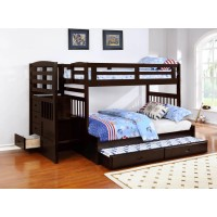 DUBLIN COLLECTION - Dublin Traditional Cappuccino Twin-over-Full Bunk Bed