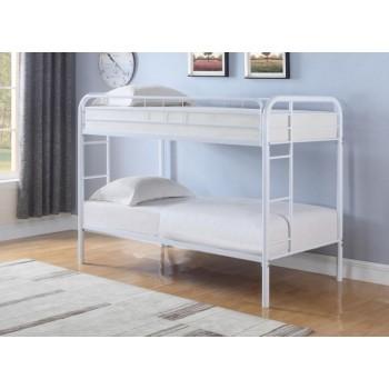 MORGAN BUNK BED - Morgan  White Twin Bunk Bed