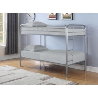 MORGAN BUNK BED - Morgan  Silver Twin Bunk Bed