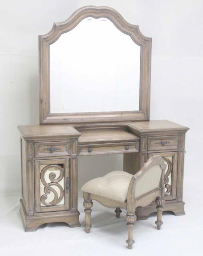 Vanity desk 205288 vanity tables price busters furniture for Vanity desk furniture
