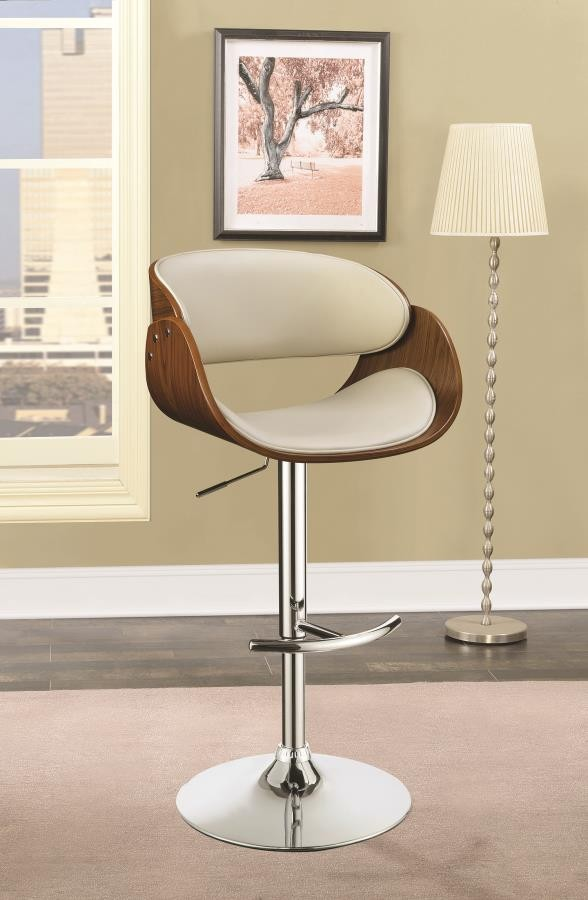 Pleasing Modern Ecru Adjustable Bar Stool Machost Co Dining Chair Design Ideas Machostcouk