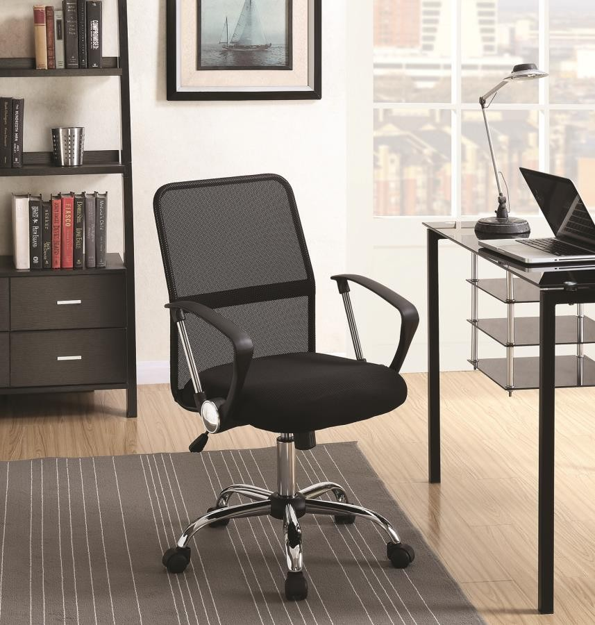 Cool Home Office Chairs Modern Black Mesh Back Office Chair Theyellowbook Wood Chair Design Ideas Theyellowbookinfo