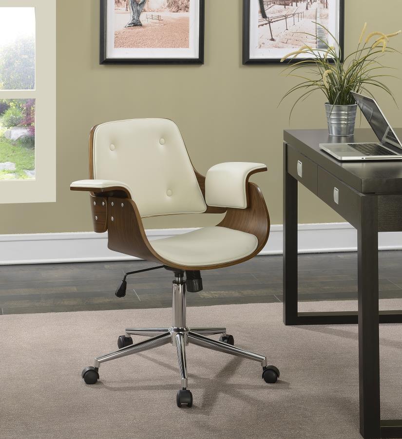 Mid Century Modern Walnut Office Chair