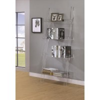 AMATURO COLLECTION - Amaturo Clear Acrylic Ladder Bookcase
