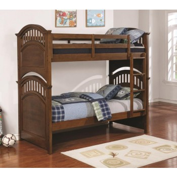 HALSTED COLLECTION - Halsted Casual Walnut Twin-over-Full Bunk Bed