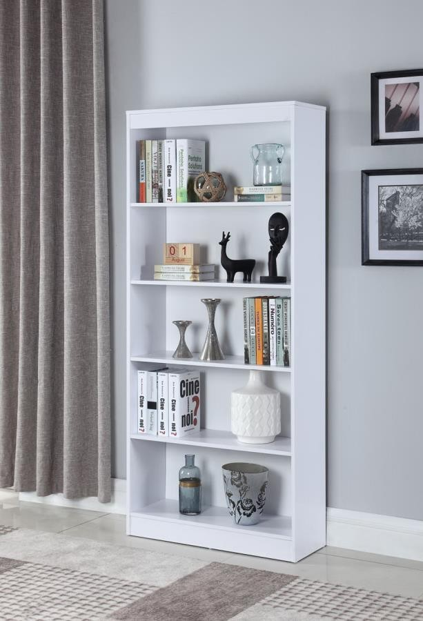 HOME OFFICE : BOOKCASES   5 SHELF BOOKCASE