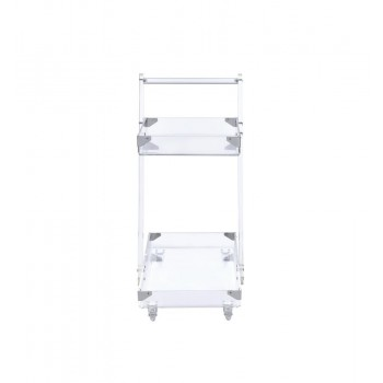 REC ROOM: SERVING CARTS - Modern Clear Acrylic Serving Cart