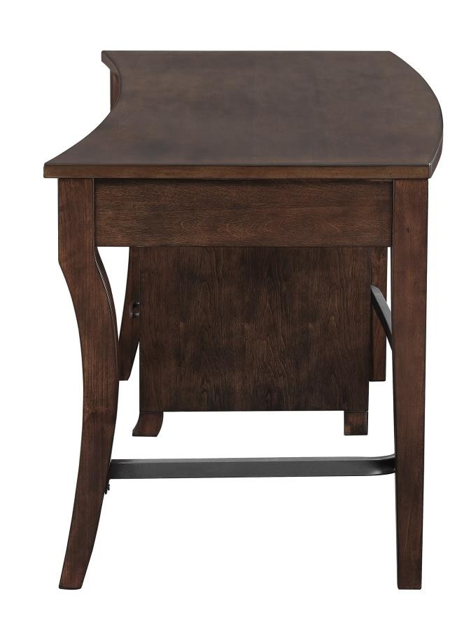 Transitional Smokey Black Writing Desk 801751 Home