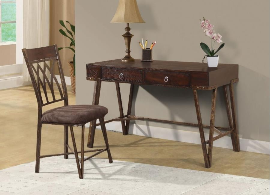 Ordinaire HOME OFFICE | SMALL COLLECTIONS   Industrial Brushed Pecan Desk And Chair  Set