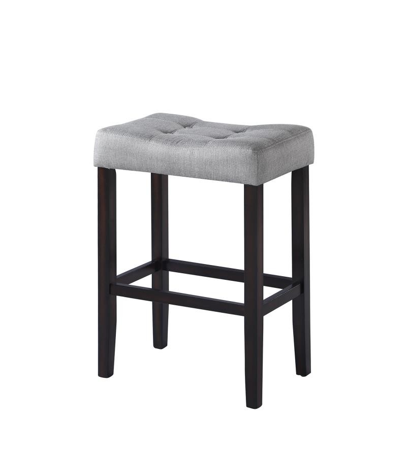 Casual Grey Upholstered Bar Stool (Pack of 2)