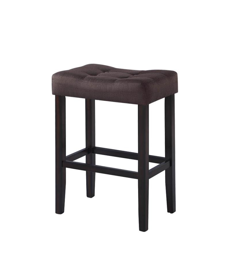 casual brown upholstered bar stool pack of 2 182014 bar stools